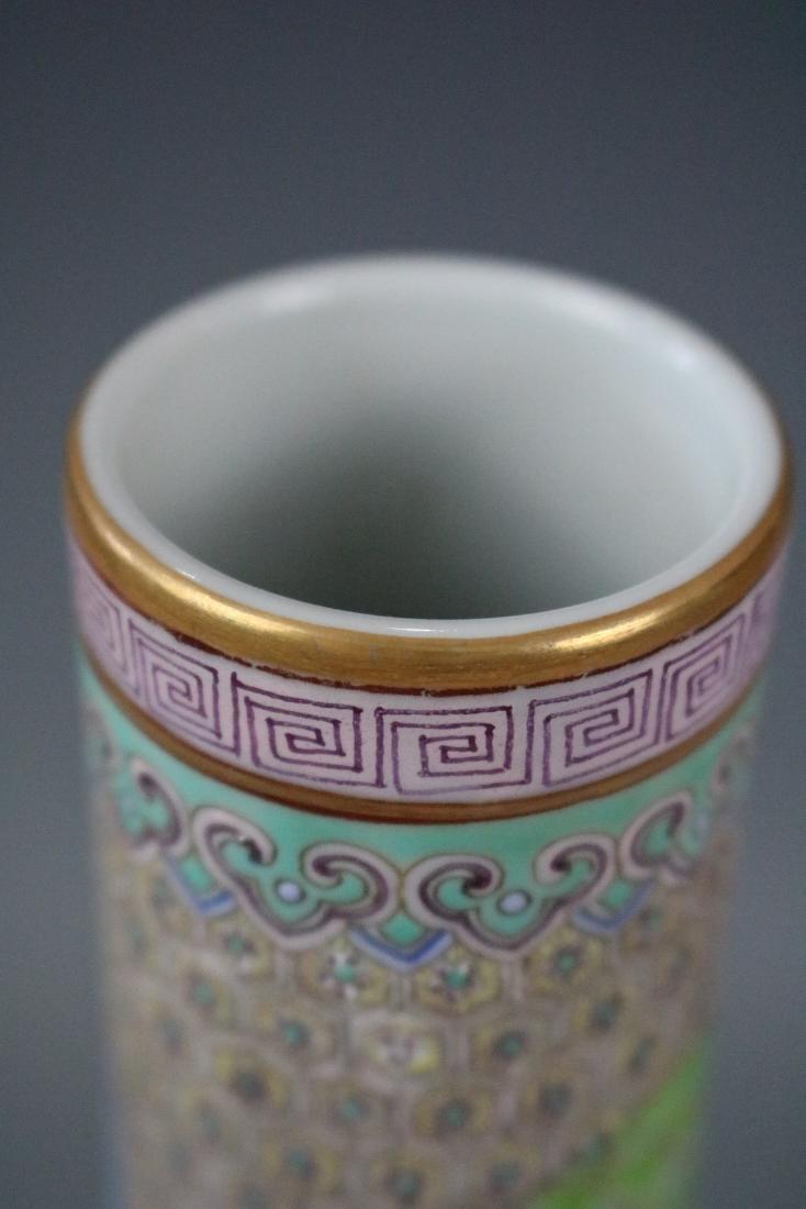 Qianlong Mark,A Famille Rose Vase - 4