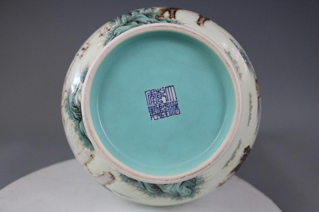 Qianlong Mark,A Famille Rose Vase - 10