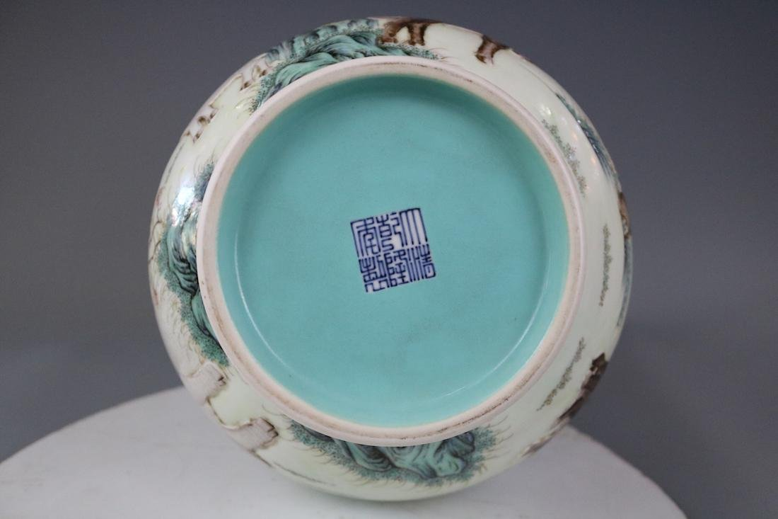 Qianlong Mark,A Famille Rose Vase - 9