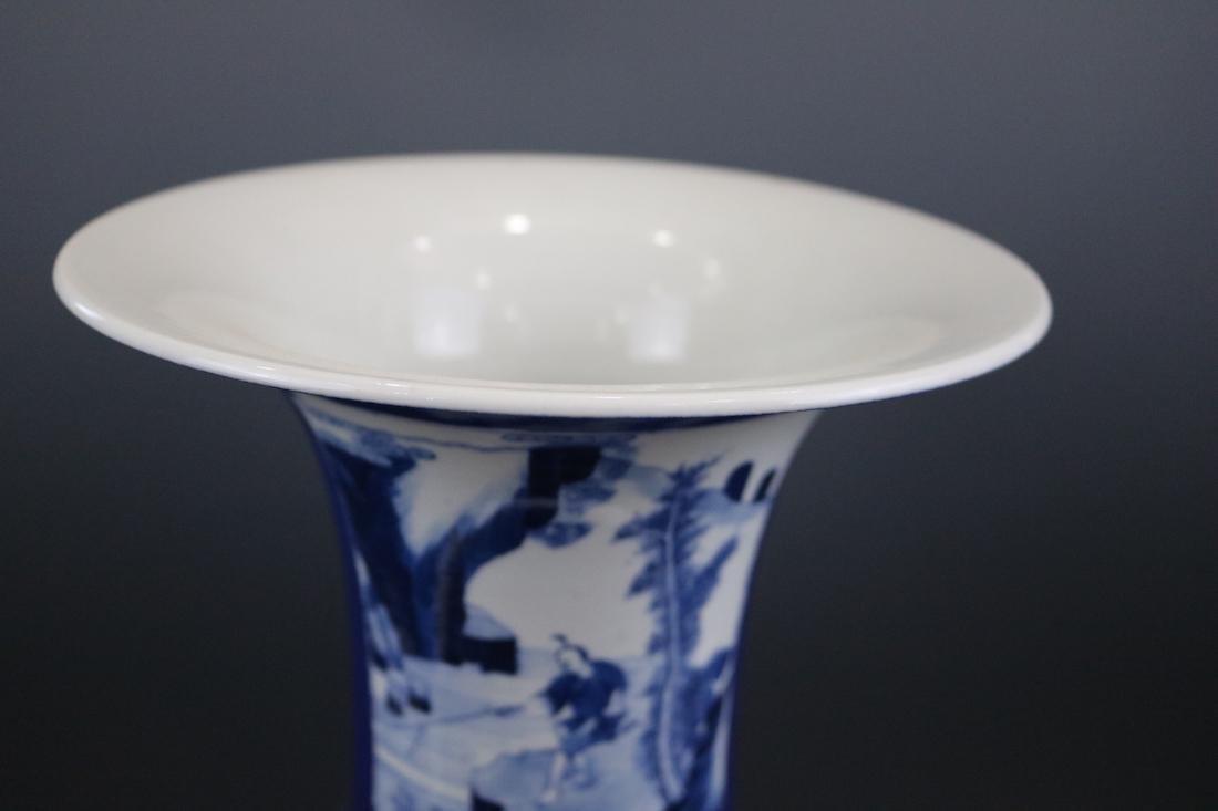 Kangxi Mark,A Blue Glazed Vase - 4