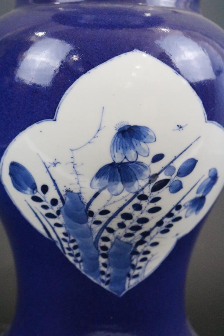 Kangxi Mark,A Blue Glazed Vase - 5