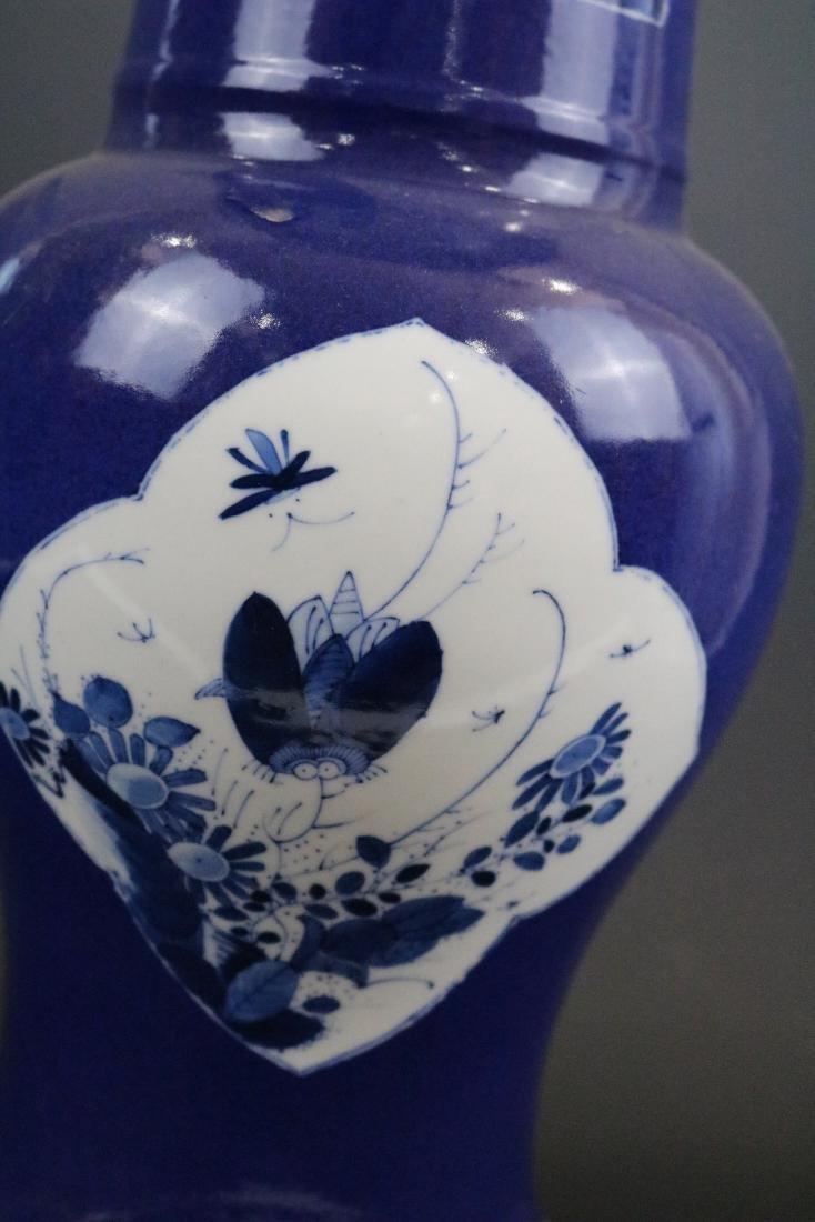 Kangxi Mark,A Blue Glazed Vase - 7