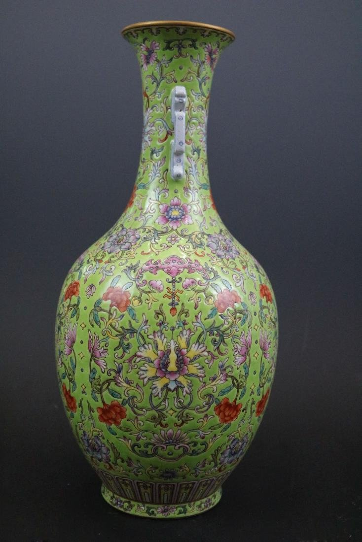 Qianlong Mark,A Famille Rose Vase With Two Handles - 2