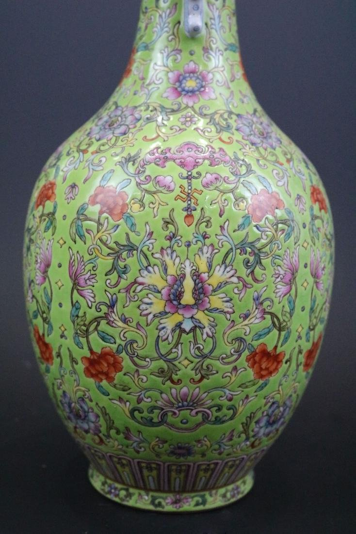 Qianlong Mark,A Famille Rose Vase With Two Handles - 3