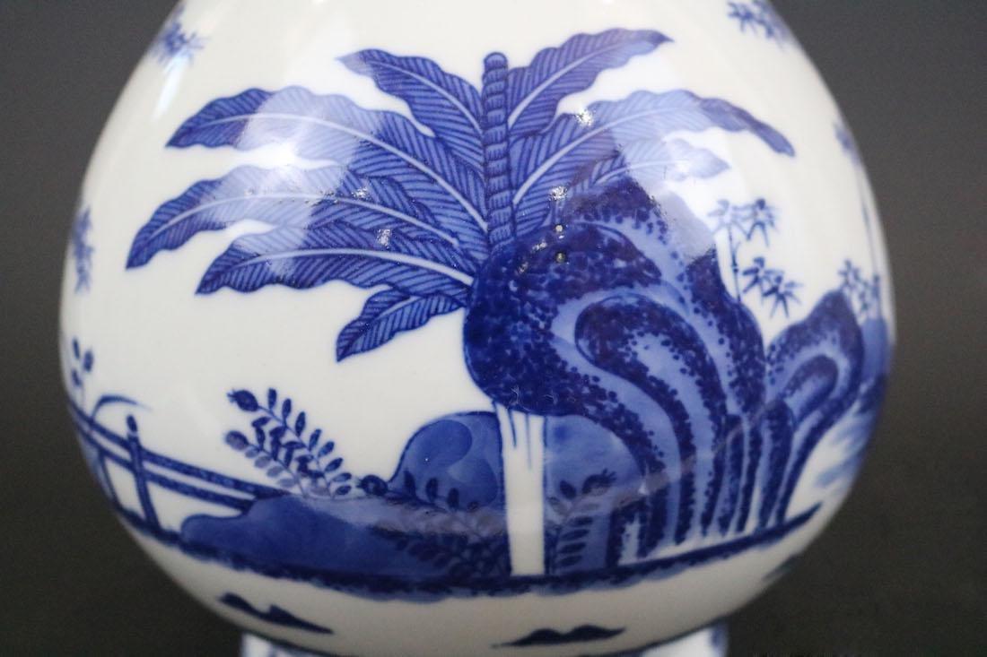 Qianlong Mark,A Blue And White Yuhuchun Vase - 4