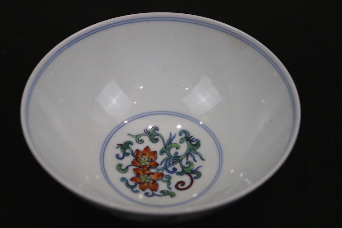 Yongzheng Mark,A Doucai Bowl - 3