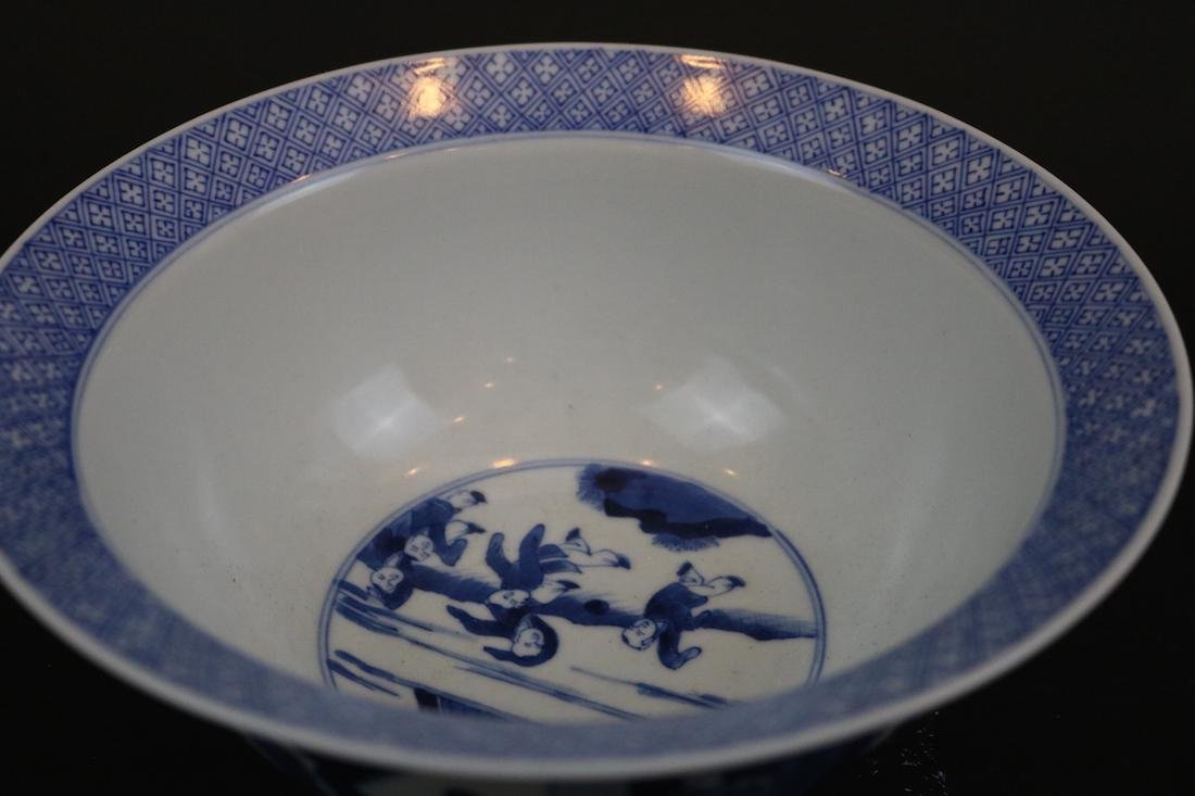Kangxi Mark,A Blue And White Bowl - 3