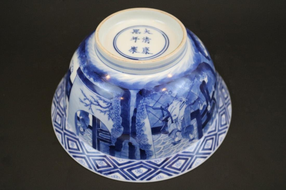 Kangxi Mark,A Blue And White Bowl - 7
