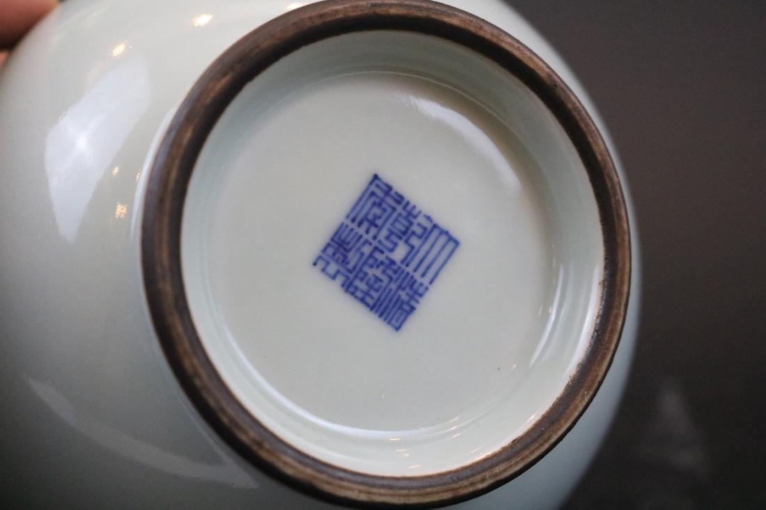 Qianlong Mark,A Guan Ware Jar With Two Handles - 5