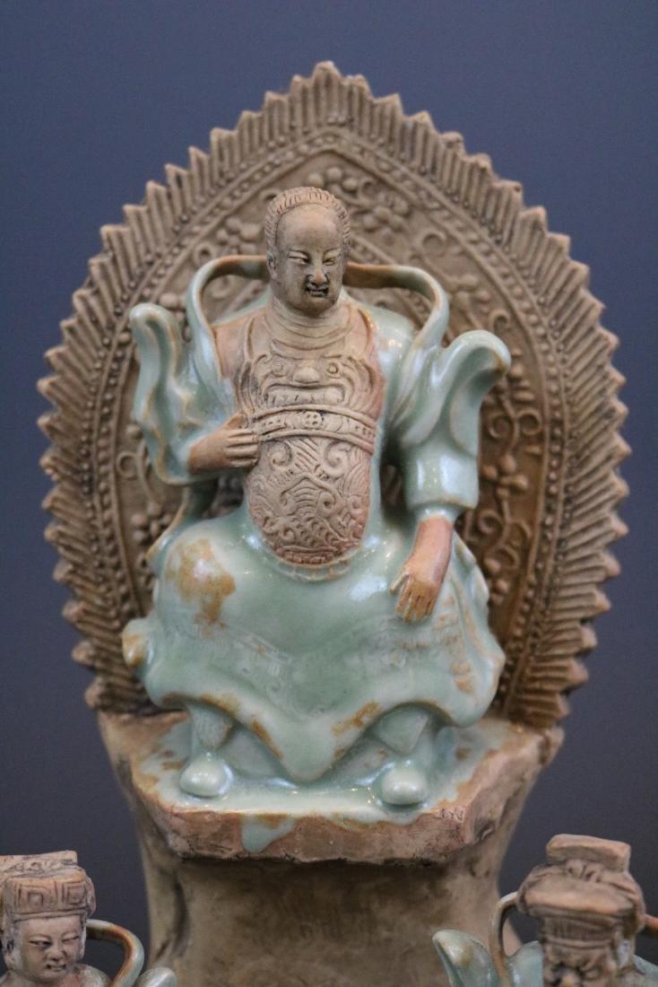 A Longquan Buddha Sculpture - 2