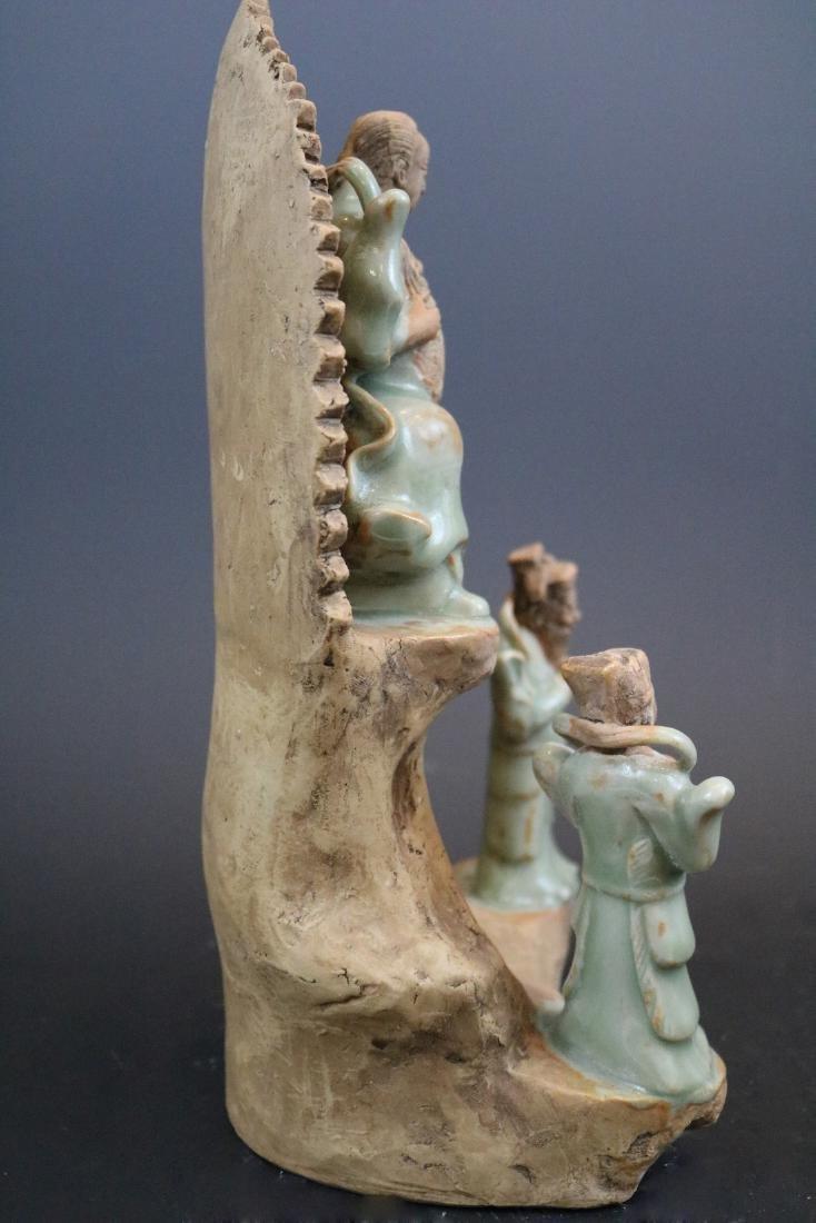 A Longquan Buddha Sculpture - 4