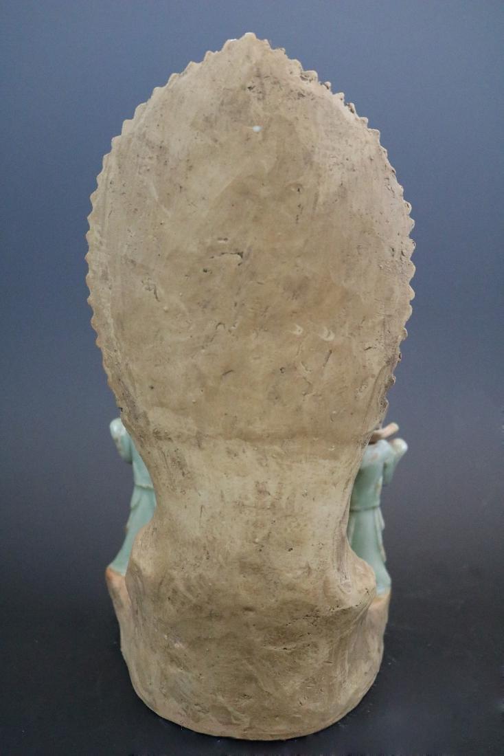 A Longquan Buddha Sculpture - 5