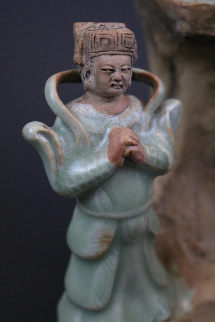 A Longquan Buddha Sculpture - 9