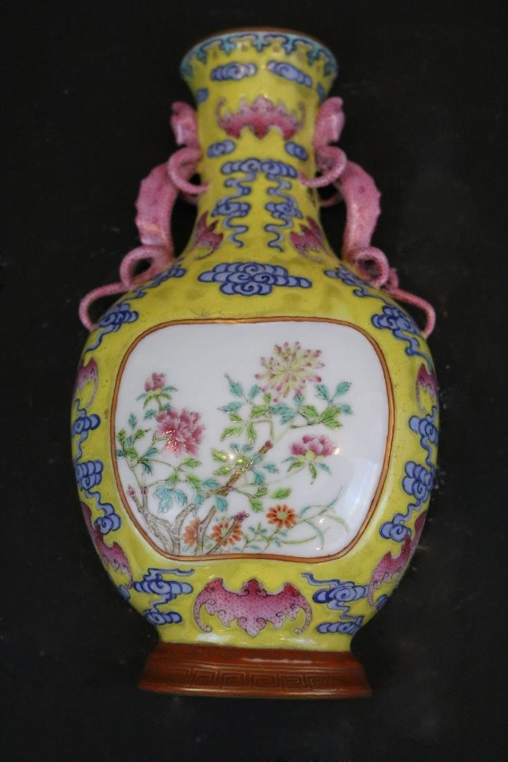 Qianlong Mark,A Famille Rose Wall Vase