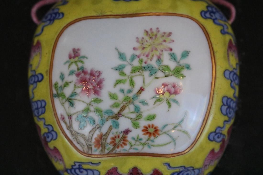 Qianlong Mark,A Famille Rose Wall Vase - 2