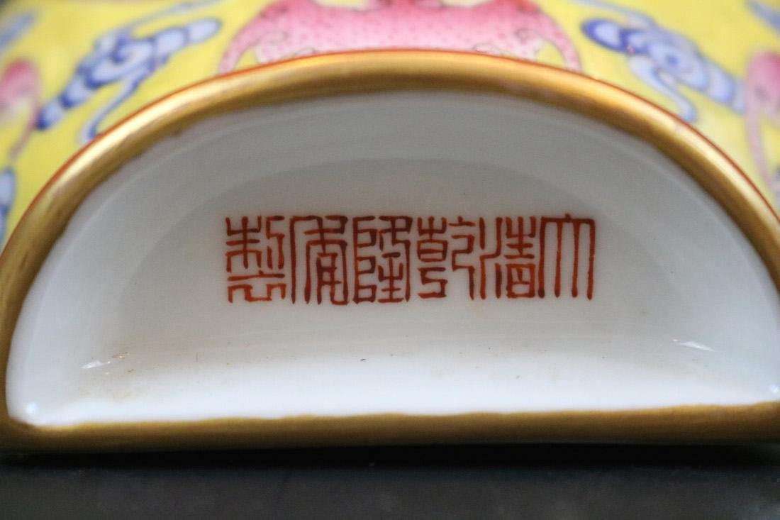Qianlong Mark,A Famille Rose Wall Vase - 5