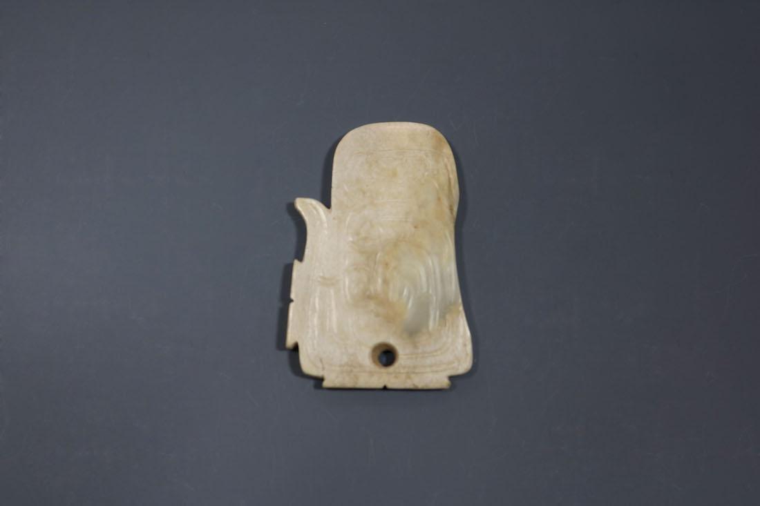 A Hetian Celandon Jade Phoenix-Form Pendant, Western - 4