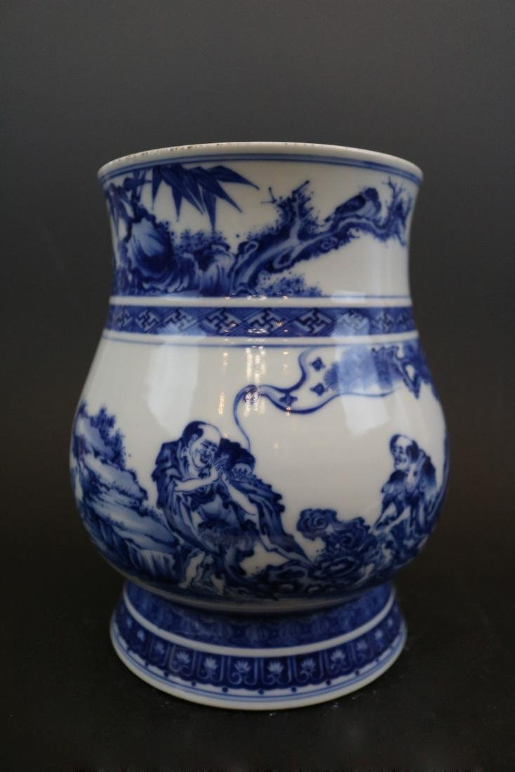 Yongzheng Mark,A Blue And White Jar