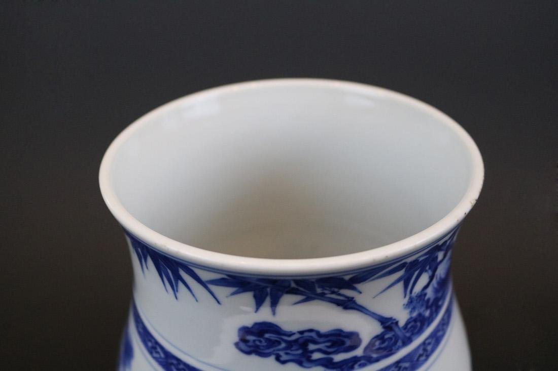 Yongzheng Mark,A Blue And White Jar - 4