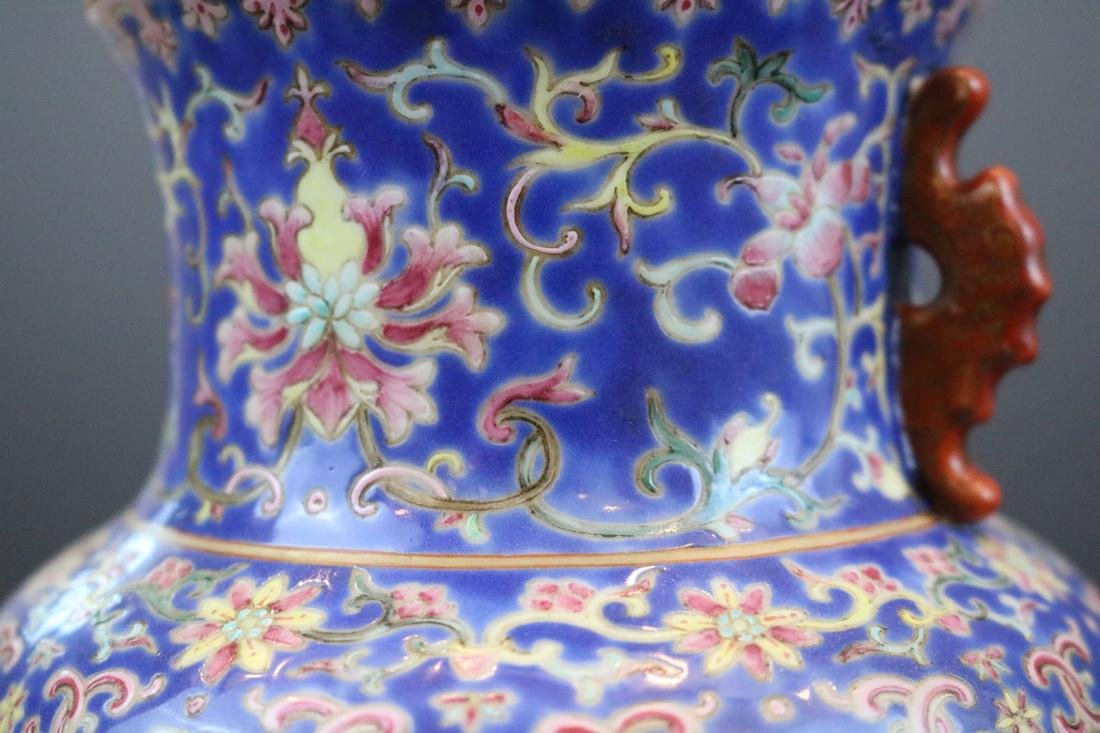 Qianlong Mark, A Famille Rose Vase With Human Pattern - 7