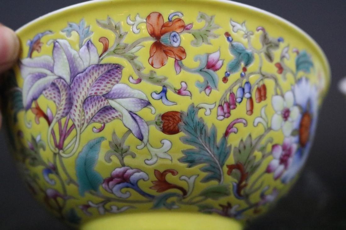 Qianlong Mark,A Pair Of Enamel Decorate Bowls - 2