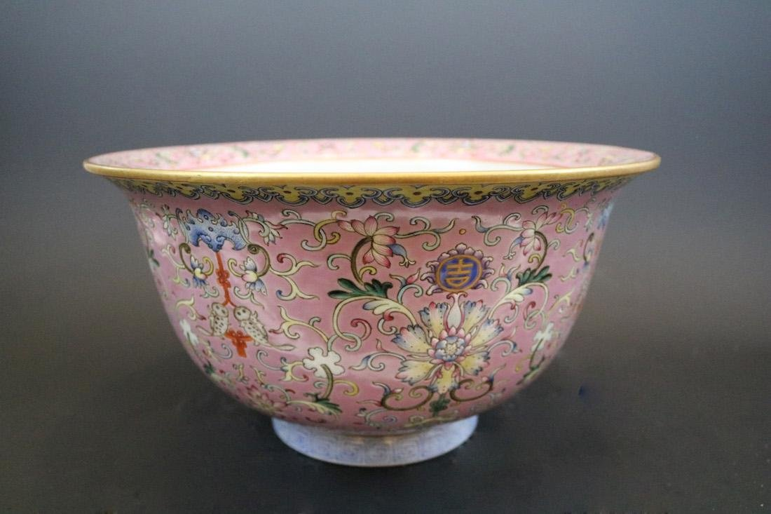 Shendetang Mark,A Famille Rose Flowerpot