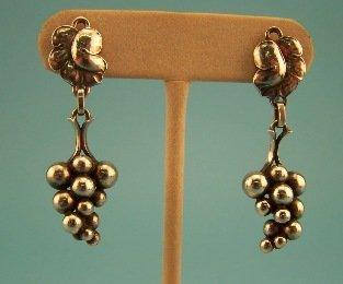 1: Georg Jensen Grape Cluster Earrings - Sterling