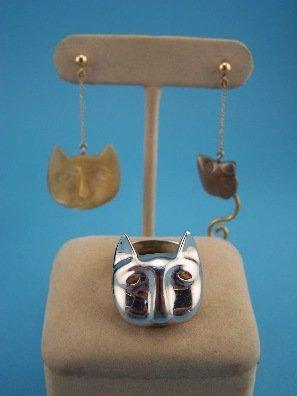 2: Carol Jablonsky Sterling Cat & Mouse Set
