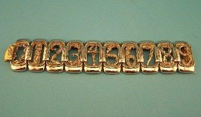 3: Sterling Erte Numbers Bracelet