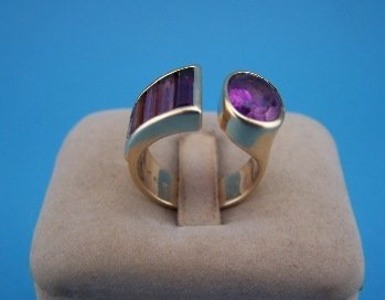 4: Erte 14K Ring w/ Jewels #23 of 300