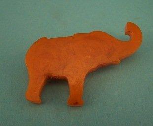 16: Carved Catalin Bakelite Elephant Pin
