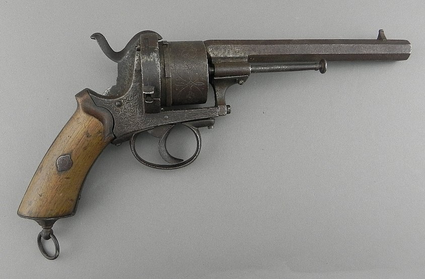 Fancy Antique Pinfire Pistol