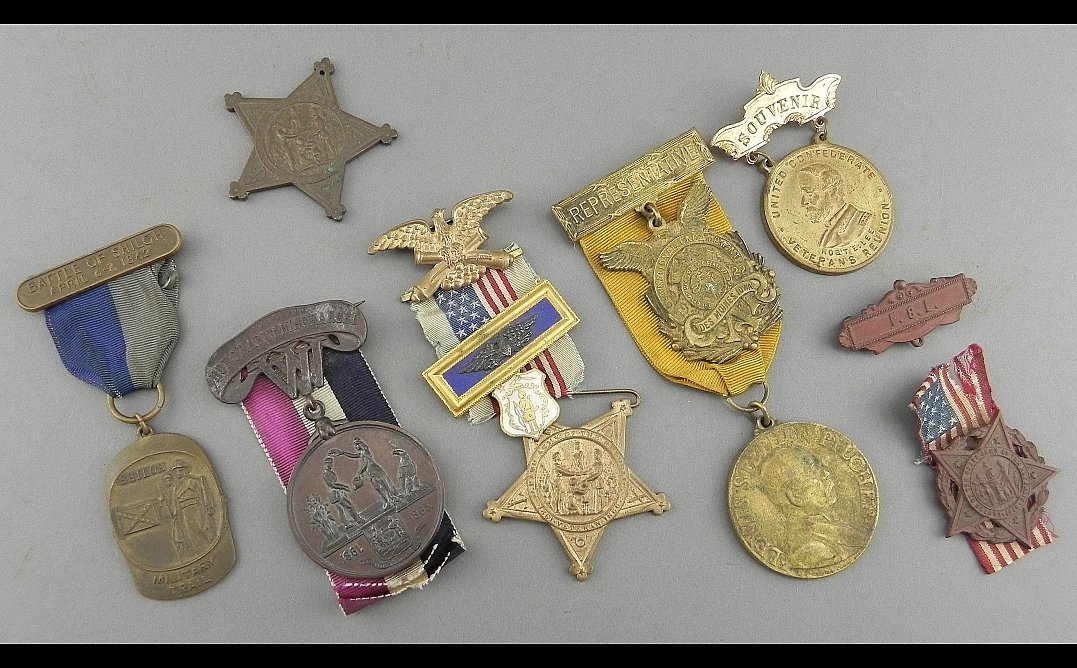 Group of GAR and related medals