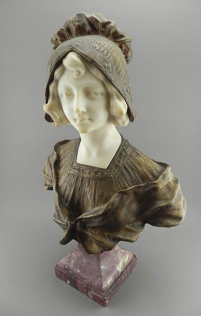 Affortunato Gory Bronze and Marble Bust