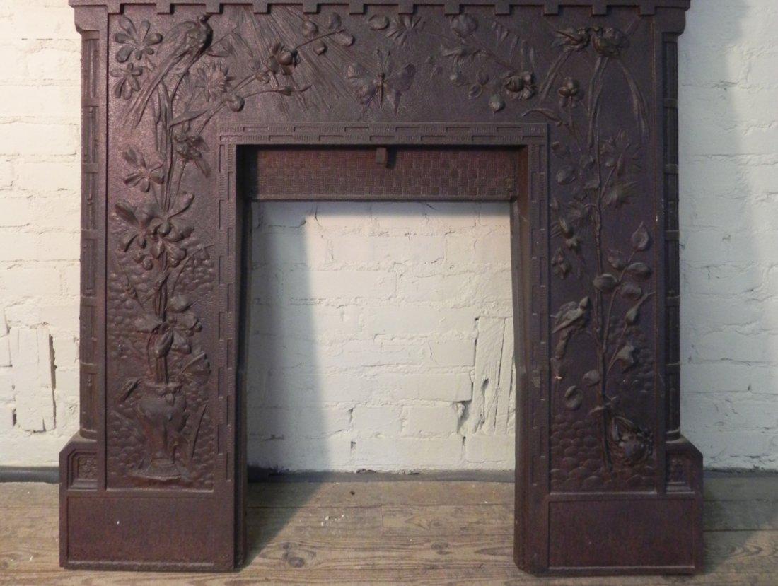 Aesthetic Movement Cast Iron Fireplace Surround