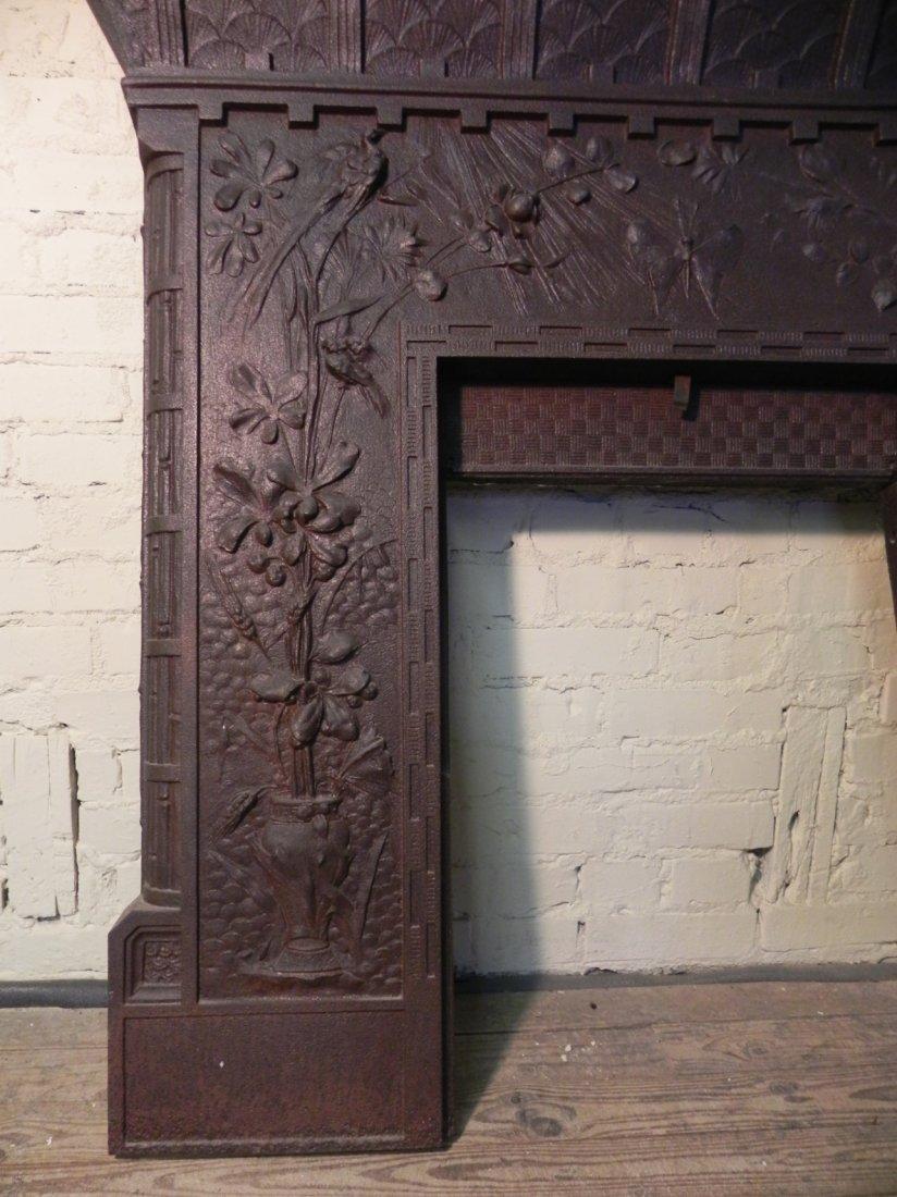 Aesthetic Movement Cast Iron Fireplace Surround - 2