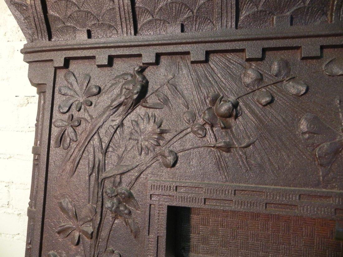 Aesthetic Movement Cast Iron Fireplace Surround - 3