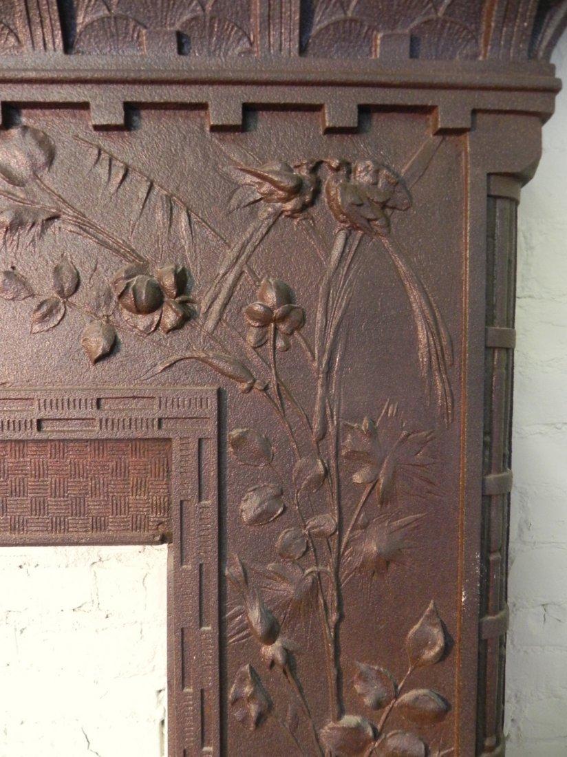 Aesthetic Movement Cast Iron Fireplace Surround - 4