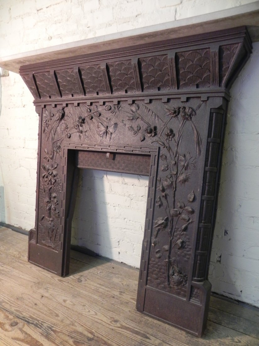 Aesthetic Movement Cast Iron Fireplace Surround - 5