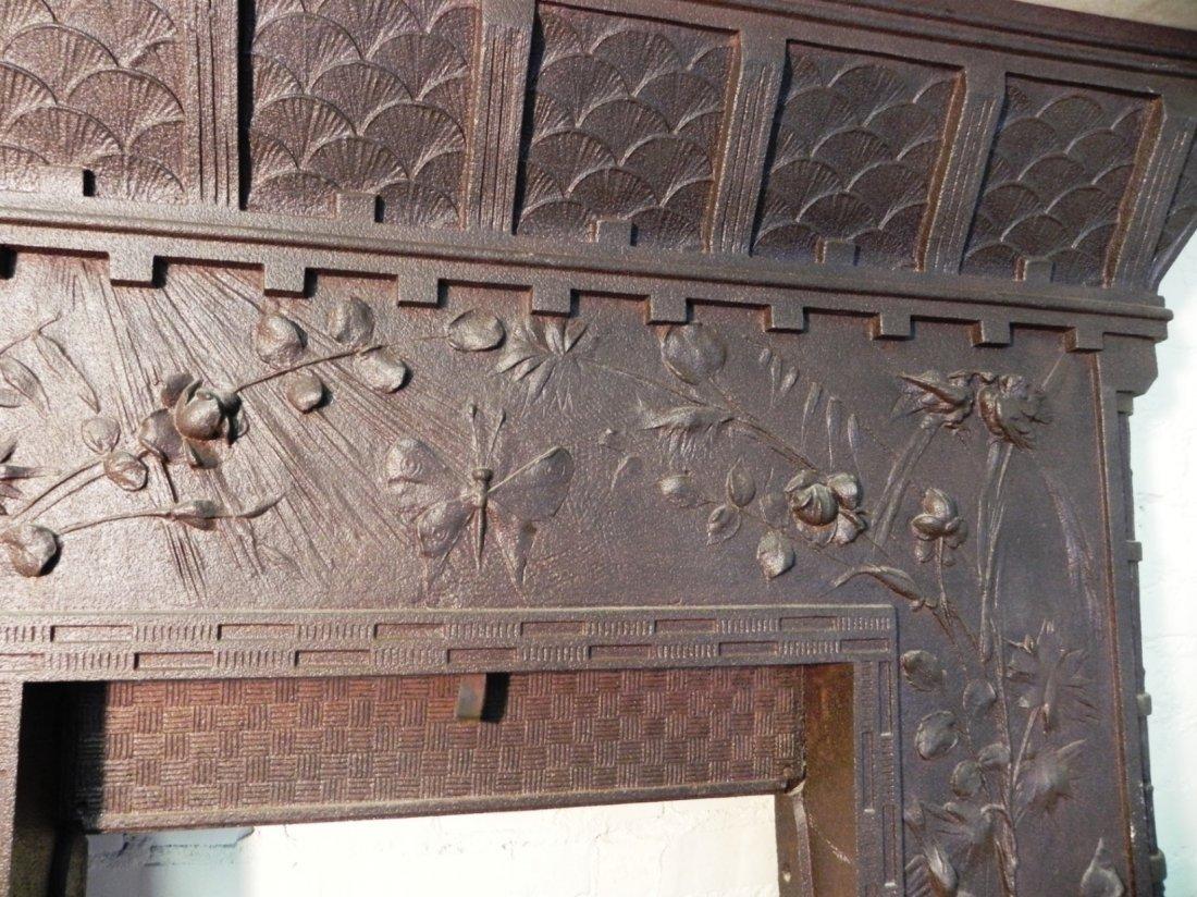 Aesthetic Movement Cast Iron Fireplace Surround - 6