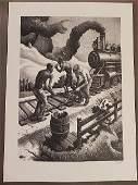 Thomas Hart Benton Ten Pound Hammer FATH79 Lithograph