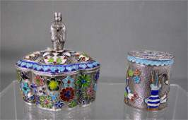 Antique Chinese Export Sterling Silver Jewelry Box