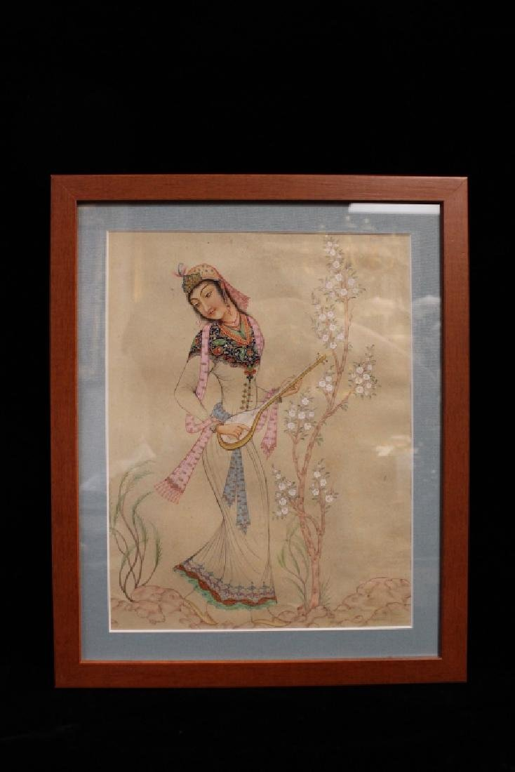 "Persian Miniture Painting, Signed""Tagvidt"""