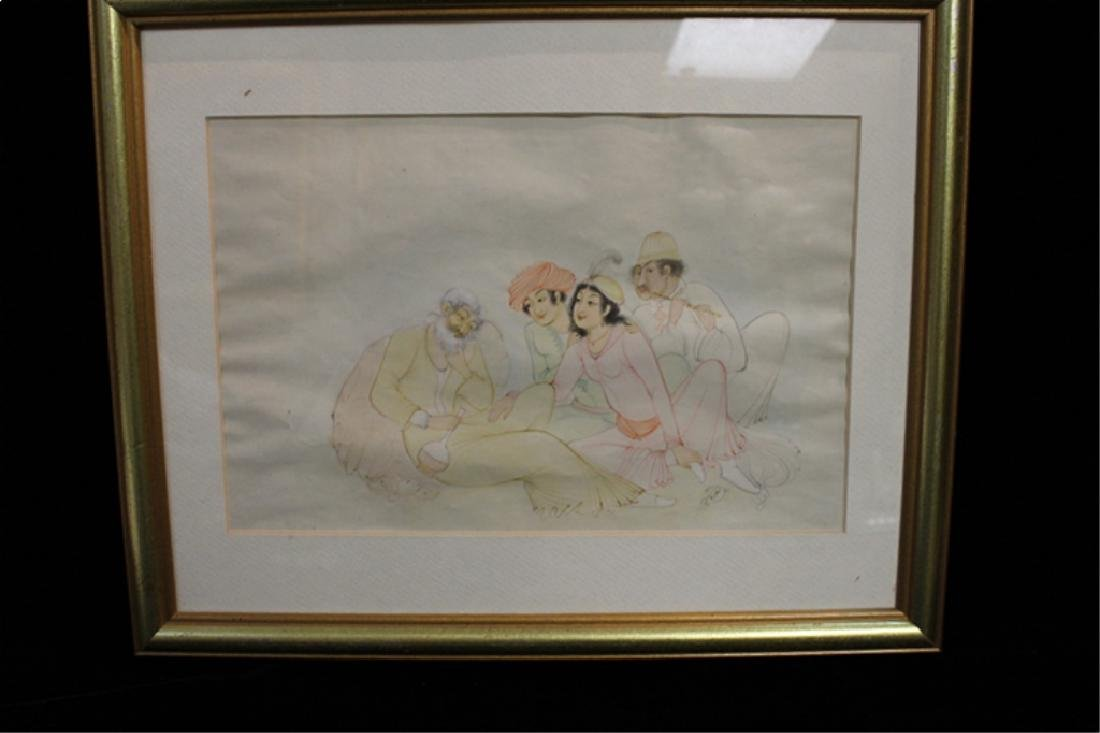 """Persian Miniture Painting, Signed""""Tagvidt"""""""