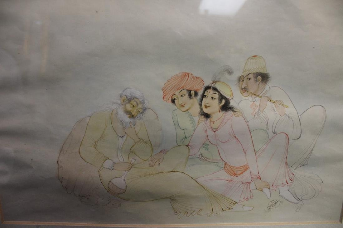 """Persian Miniture Painting, Signed""""Tagvidt"""" - 4"""