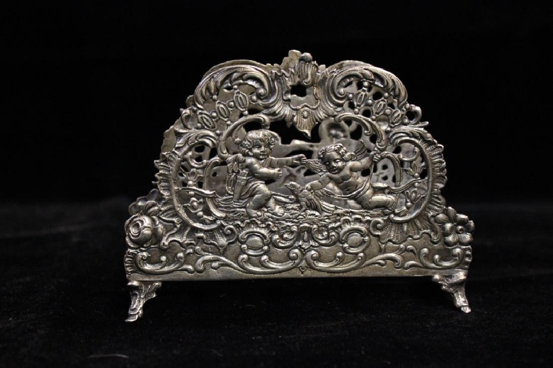 Dutch Silver napkin Holder,