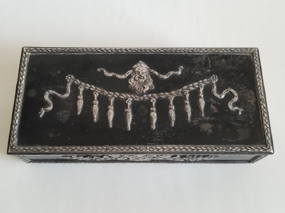 Antique Russian Steel Humidor Box - 2