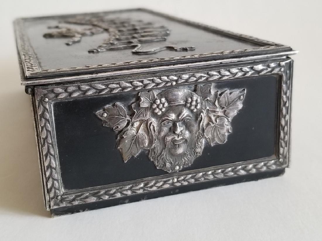 Antique Russian Steel Humidor Box - 5