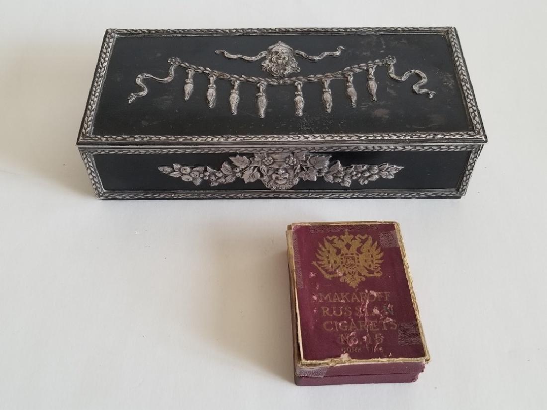 Antique Russian Steel Humidor Box - 6