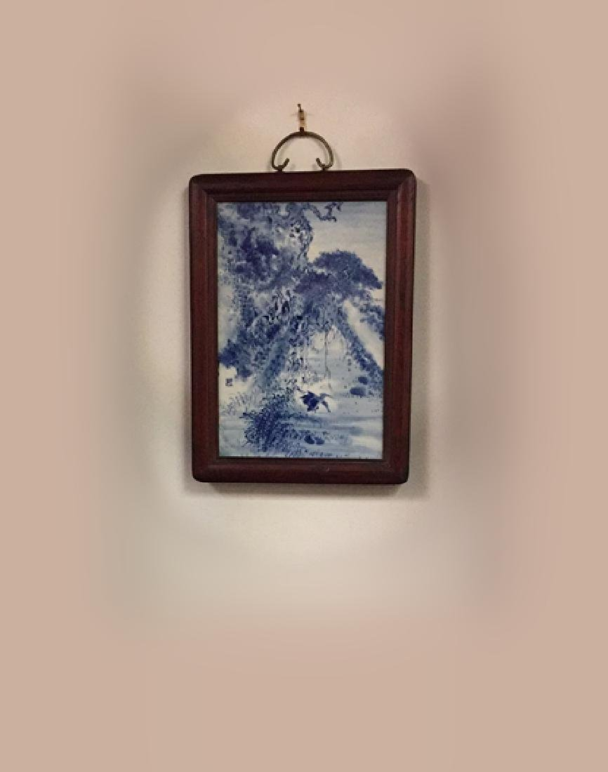 Chinese Blue and White Porcelain Plaque - 7